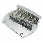 OLP Style 5-String Bass Guitar Bridge in Polished Chrome