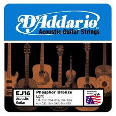 D'Addario EJ16 Phosphor Bronze 12-53 Guitar Strings