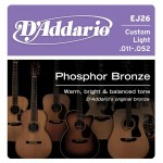 D'Addario EJ26 Phosphor Bronze 11-52 Guitar Strings