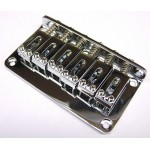 Guitar Bridge Chrome with 6 Vintage Saddles