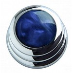 Qparts Chrome Ringo Blue Pearl Knob (PAIR)