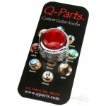 Qparts Red Acrylic Knob