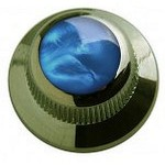 Qparts Black Chrome UFO Aqua Pearl Knob (PAIR)